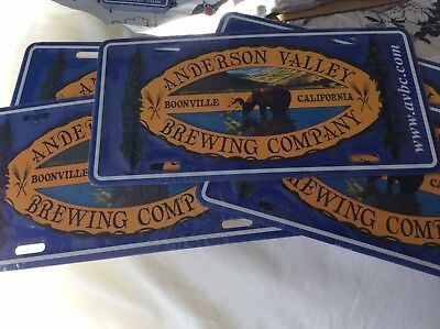 Anderson Valley Brewing Company, Boonville, Ca, Novelty Auto License Plate.