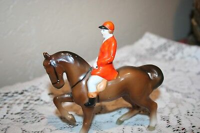 Nice Vintage Erphila English Rider and Horse Figurine Made in Germany