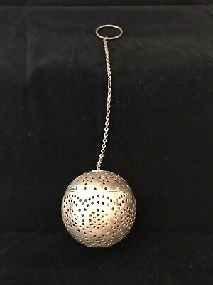 Antique Sterling Silver Tea Ball Stainer