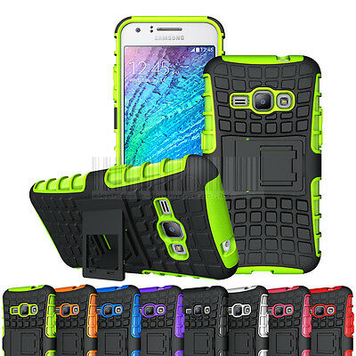 Dual Layer Rugged Case Kickstand Hard Rubber Cover For Samsung Galaxy Luna 2016