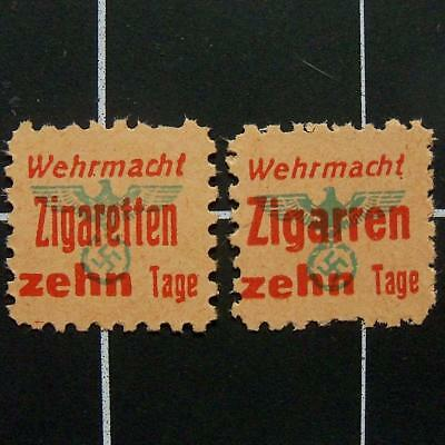 German WW2 Wehrmacht Cigarette/Cigar ration stamps-MNG-nazi era Germany tobacco