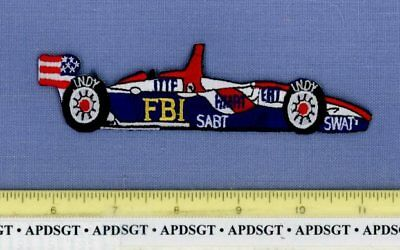 FBI INDIANAPOLIS INDIANA Federal Police Patch INDY 500 RACE CAR AUTOMOBILE