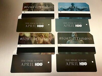 NYC Game Of Thrones MetroCard Limited Edition Full Set of 4