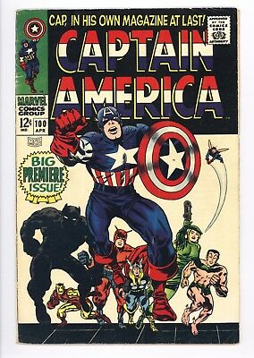 Captain America #100 Vol 1 Very Nice Mid Grade Black Panther Appearance