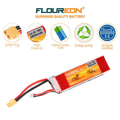 2800mAh 3S 35C 11.1V LiPo Battery XT60 Plug For RC Helicopter Car Truck Boat US