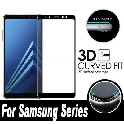 Full Cover Tempered Glass Screen Protector for Samsung Galaxy A6 A7 A8 A9 2018