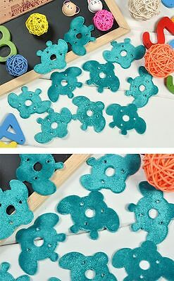 "50PCS Cute Bee Felt Padded Sewing Scrapbooking Craft Appliques Trim 2.4"" Craft"