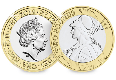 2019 Royal Mint BU UK definitive coin Britannia £ 2 pounds