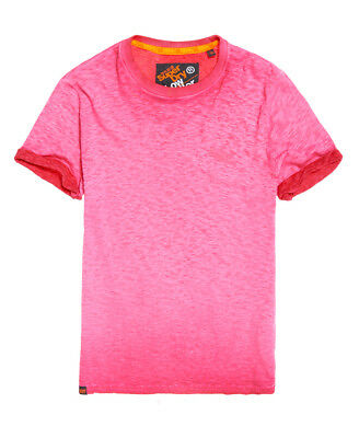 New Mens Superdry Low Roller T-Shirt Autumn Hot Pink