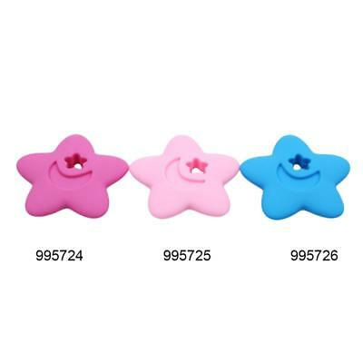 Baby Toys Silicone Teether Beaded Star Shape Nursing Accessories LC