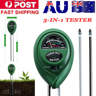 3-in-1 Soil pH acidity Moisture Light Intensity Meter Plant Tester for Gardening