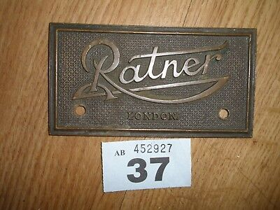 Vintage Safe Name Plaque Ratner