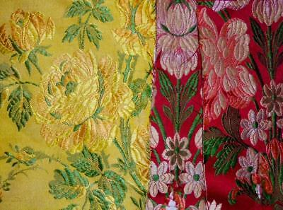 3 BEAUTIFUL FRAGMENTS 19th CENTURY SILK BROCADE LYON SPITALFIELDS, 127
