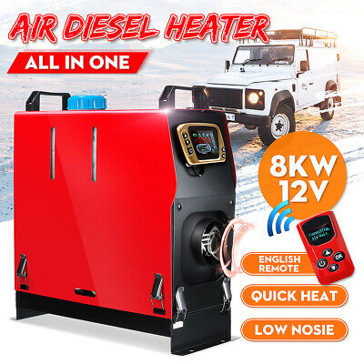 8KW 12V Air Diesel Heater 1 Hole All in One LCD Monitor For Car Trucks Boats Bus