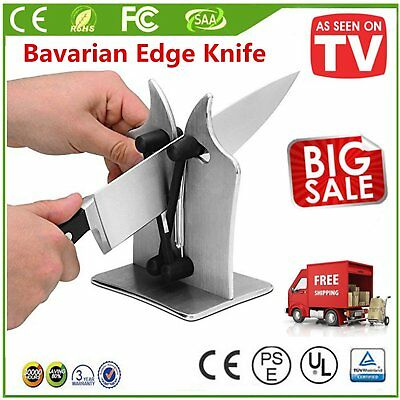 2018 Bavarian Kitchen Knife Edge Sharpener Sharpens Hones Polishes WhetstoneIK