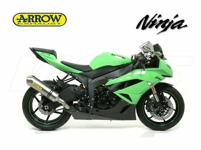 Silencer Race Tech Aluminium Inox Arrow Kawasaki Zx-6R 636 Ninja 2013-2016