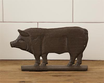 Country new Rustic brown standing decor Iron PIG