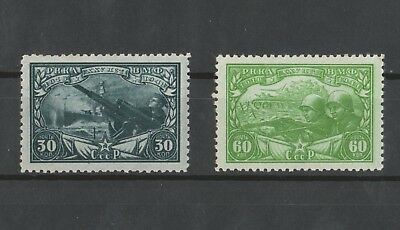 USSR 1943, 25th  anniv. Of the Red Army and Navy, SC#900-901