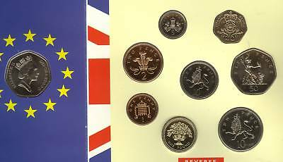 Sealed 1992 Brilliant Uncirculated Set Of 9 Coins Includes The 1992 1993 Eec 50P