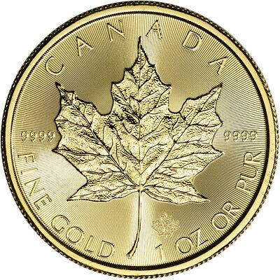 2019 Canada Gold Maple Leaf 1 oz $50 - BU