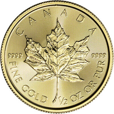 2019 Canada Gold Maple Leaf 1/2 oz $20 - BU