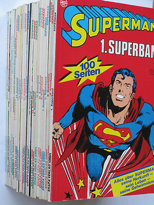 SUPERMAN SUPERBAND  (EHAPA, 1973-1987)  Band 1-30  sehr guter Zustand!