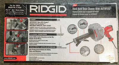 Ridgid Hand-Held Drain Cleaner With Autofeed - Model K-45 AF NEW