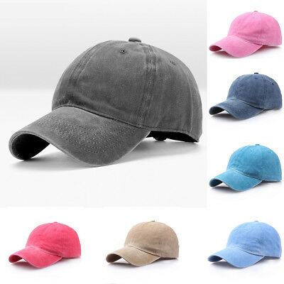 Men Plain Washed Cap Style Cotton Adjustable Baseball Cap Blank Solid Hat CHZ