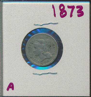 Three Cent Nickel - 1873 - #a