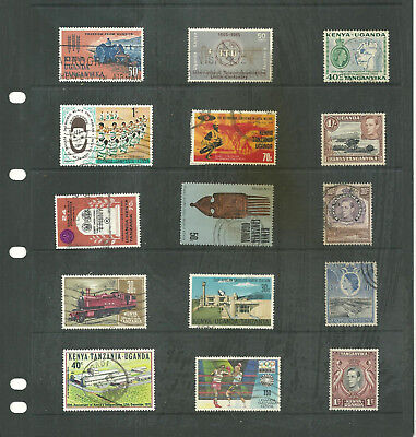 Commonwealth Kenya  Uganda Tanganyika  one stock sheet mix collection stamps