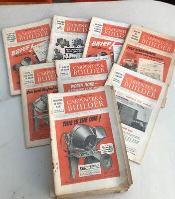 Illustrated Carpenter And Builder Magazine (22 Editions from the 1950's)
