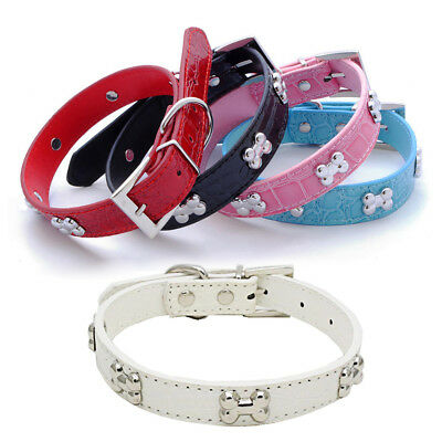 PU Leather Dog Cat Collar Durable Padded Personalized Pet ID Collars Customized