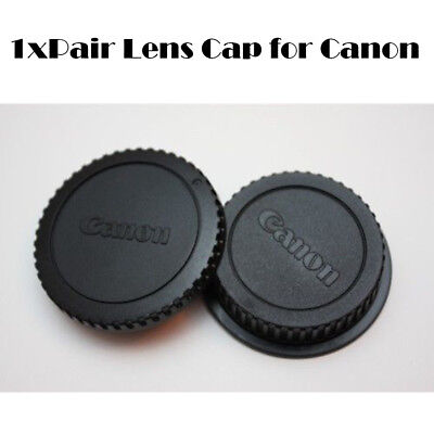 Rear Lens Cover + Camera Body Front Cap for Canon EOS EF EF-S DSLR SLR Lens