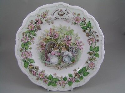 """Royal Doulton Brambly Hedge 8 1/4"""" Summer Plate."""