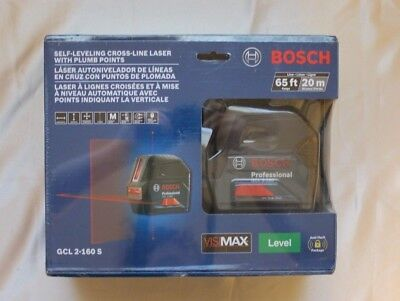BOSCH Self-Leveling Cross-Line Laser with Plumb Points GCL 2-160 S