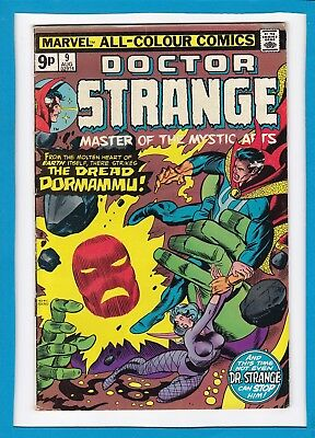 "Doctor Strange #9_August 1975_Very Good_""there Strikes The Dread Dormammu""_Uk!"