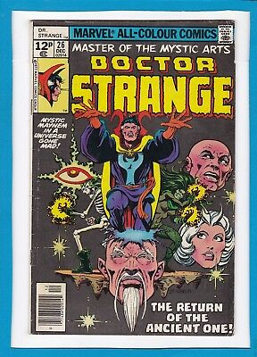 "Doctor Strange #26_Dec 1977_Very Good_""return Of The Ancient One""_Bronze Age Uk!"