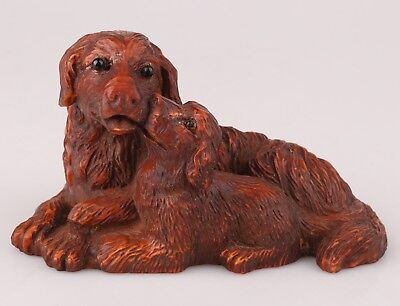 Precious Boxwood Statue Carving Like Old Handmade Carving Dog Mascot Collec Gift