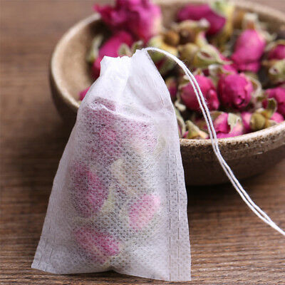 100pcs Non-woven Empty Teabags String Heat Seal Filter Paper Herb Loose Tea Bag