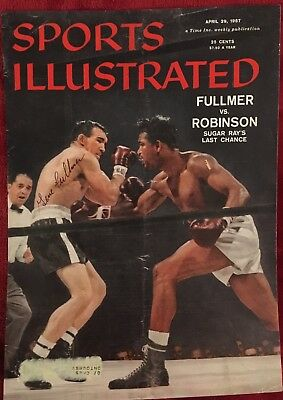 The Great Gene Fullmer Signed 'Sports Illustrated' Cover Vs Sugar Ray Robinson!!