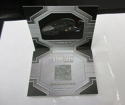 2017 Star Trek 50th Anniversary USS Enterprise E Hull Relic Prop Card ERC1