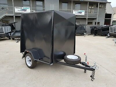 6x4 ENCLOSED VAN TRAILER | 5FT HIGH | JOCKEY WHEEL | T&t GEELONG