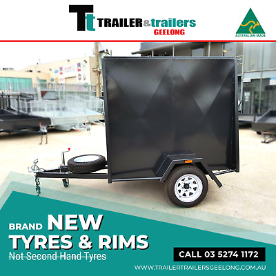 6x4 5FT HIGH ENCLOSED VAN TRAILER | REAR BARN DOORS | Trailer & trailers GEELONG