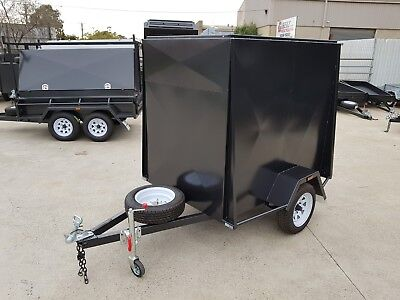6x4 5FT HIGH ENCLOSED VAN TRAILER | SPARE WHEEL | Trailer & trailers GEELONG