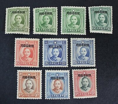 CKStamps: China Sinkiang Stamps Collection Scott#89-97 Mint 7H OG 3NG