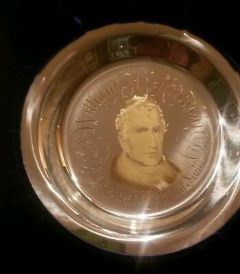 The William H. Harrison Plate Solid Silver With 24K Inlaid Gold