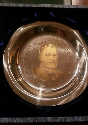 The Ulysses S. Grant Plate Solid Silver With 24K Inlaid Gold