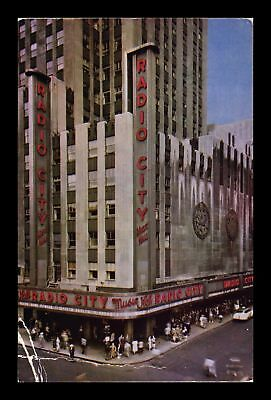 Dr Jim Stamps Us Radio City Music Hall New York City Postcard Creased