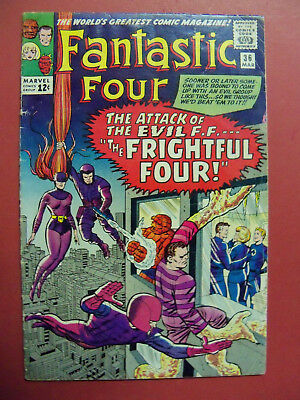 """FANTASTIC FOUR #36 """"THE FRIGHTFUL FOUR"""" (4.0 or BETTER) SILVER AGE 1964 MARVEL"""