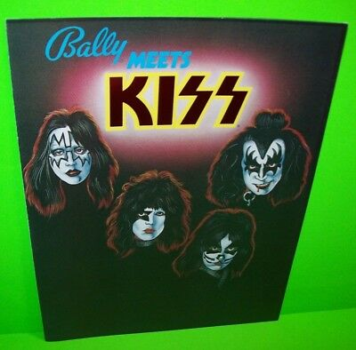 KISS Pinball Machine Flyer Brochure NOS RARE ORIGINAL Bally Hard Rock Glam 1979